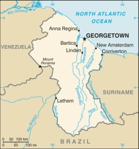 Georgetown, British Guyana, where most of Sarojini's story takes place.