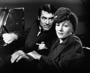 Fontaine and Cary Grant